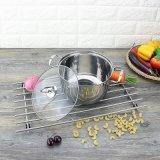 Бак кухни индукции крышки нержавеющей стали стеклянный (FT-01814)