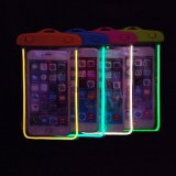 Bolso/bolsa/saco impermeables de la fluorescencia de 5.5 pulgadas para el teléfono elegante para el iPhone Samsung Huawei