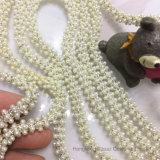 2017 encadenamiento blanco de la perla de la alineada de Brial del encadenamiento de la garra de la nueva del ABS de la perla perla redonda del encadenamiento 8m m Ss38