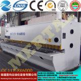 Máquina que pela modificada para requisitos particulares 8*6000m m de la placa hidráulica de la guillotina del CNC