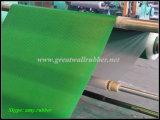 Hoja de goma antiestática acanalada compuesta, hoja antiestática negra verde/estera