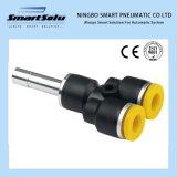 Type en plastique de la variété Y de qualité ajustage de précision pneumatique pour le tube
