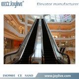 Escalera móvil usada del paso de progresión del supermercado para la venta