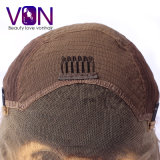 Pelo natural brasileño rizado con la peluca del cordón del frente del precio al por mayor de la fábrica