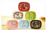 Petite horloge d'alarme d'enfants muets mignons de mode colorée par sucrerie