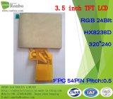 3.5 pouces 320X240 RGB 24bit 54pin IC: Hx8238d écran LCD TFT