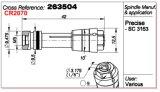 서풍 Abw-125 스핀들 콜릿 263504