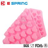 Molde diferente da bandeja de gelo do silicone do molde dos doces de chocolate da forma do coração do tamanho
