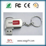 Mecanismo impulsor de destello de la pluma del USB de la insignia del disco de la memoria de la plata libre del metal