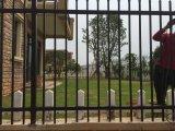 Enduit de poudre Résidentiel élégant Clôture Fer Forgé Riverside Sécurité