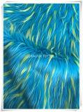 ジャカードが付いている長い山の毛羽織りの偽造品の毛皮