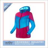 習慣によって印刷される男女兼用の皮のウインドブレイカーのジャケット