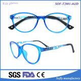 Lunettes bleues de bâti optique de modèle de mode avec la tempe colorée pour des gosses