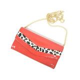 Stile di modo con Clutch Wallet dell'unità di elaborazione del leopardo della signora