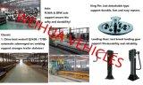Tri-Welle Fuwa Marken-Kipper-Flachbettbehälter-halb Schlussteil 20FT