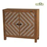 Mobília de madeira de Chevron de 3 portas no revestimento de Brown da noz