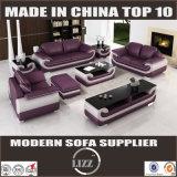Sofá de couro secional do estilo europeu (Lz1488)