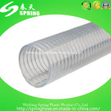 Mangueira espiral reforçada PVC da descarga industrial da câmara de ar do fio de aço