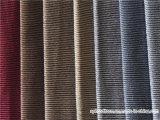 Tissu 100% de sofa de capitonnage de polyester de velours de piste