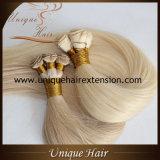 Usine de trame de cheveu attachée par main