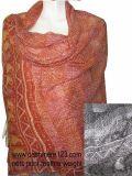 Шаль печати кашемира Silk сетчатая (IMG-0088)