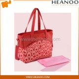 Grands sacs roses populaires personnalisés de couche de messager de bébé de couche-culotte de créateur
