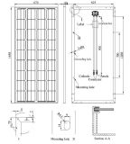 qualité allemande mono du panneau solaire 18V (140W-170W)