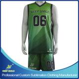 Quick-Dry kundenspezifisches volles Sublimation-Drucken-erstklassige Basketball-Klage