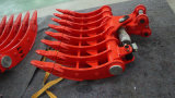 Position de inclinaison hydraulique de râteau d'excavatrice, râteau d'excavatrice