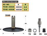 Le caoutchouc de bicyclette a couvert la valve (TC4E)