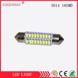 Fotómetro Doble-Acentuado Dirigir-Vendedor 39m m de la lámpara de lectura de la luz 3014 18SMD LED del trabajo del faro LED del coche del fabricante