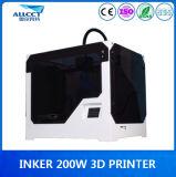 공장 0.1mm Precison는 200X200X300mm 건축 3D 인쇄 기계를 LCD 만진다