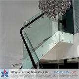 Claro / hoja de vidrio templado para escaleras barandas con Certificación