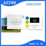 Визитная карточка польностью UV экрана OEM TFT LCD печатание цвета видео-