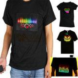 LED EL Logo imprimé Flashing T-Shirts avec votre design
