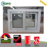 PVC estándar Windows de desplazamiento esmaltado doble de Australia UPVC/