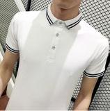 O verão novo chega camisa de polo magro do ajuste com a garganta tingida fio
