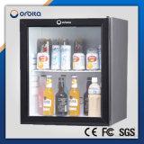 Costume do hotel de Orbita refrigerador da barra da porta de vidro de 30 litros mini