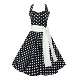 In Stock Backless Sexy Rockabilly Dress with Belt for Women