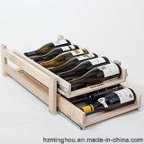 Estante de madera de la botella de vino del estilo elegante de la vendimia con capas