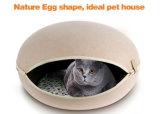 Chambre détachable et se pliante d'animal familier de feutre d'oeufs, bâtis de crabot, chenil de chat