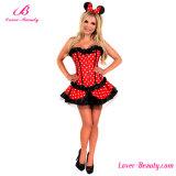 Minnaar-schoonheid het Sexy Kostuum van Halloween van de Verpleegster van het Korset van het Konijntje