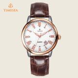 Kalender-Leder-Band-Geschäfts-Quarz-Uhr-Armbanduhr 72218 der Männer