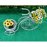 Basamento bianco della piantatrice della bicicletta di Antuqie con 2 POT