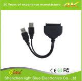 """USB 3.0 para SATA Adaptador de Cabo de Alimentação Enhanced de Dados 22pin para 2,5 """"Inch"""