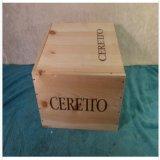 Rectángulo de madera 2010 del vino de Ceretto Barolo Brunate completo con la tapa de la diapositiva