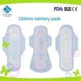 Madame ultra-mince serviette hygiénique de 320mm pour l'usage de nuit