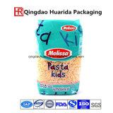 Sac en plastique de conditionnement des aliments de logo fait sur commande pour des pâtes, macaronis, riz