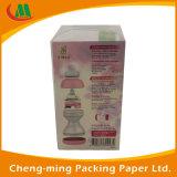 Cuboide Caja del sombrero de papel de PVC Ventana de papel con cubierta transparente