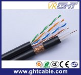 Muti媒体ネットワーク4p UTP Cat5eケーブルおよびRG6アンテナケーブル